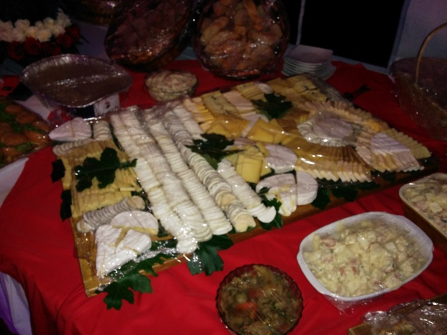 The Cheese board at the Bastille Day celebration at the French Ambassador's residence in 2014. (I guess sponsored by the monopoly supermarket here which is French owned.
