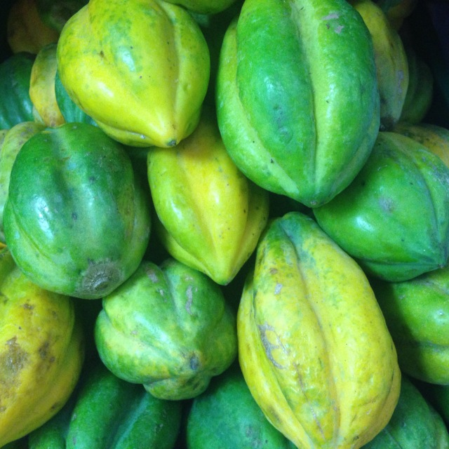 papayuela - papaya's cousin that should be consumed cooked