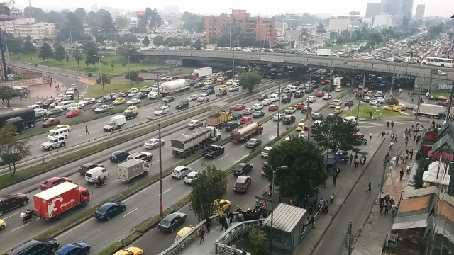 Just another day on Bogotá's Autopista ('Highway')